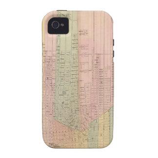 Mapa de la ciudad de Detroit Vibe iPhone 4 Carcasas