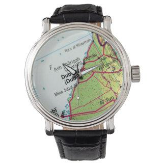 Mapa de la ciudad de Dubai Relojes De Mano