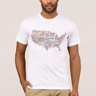 Mapa de la ciudad de Estados Unidos Playera