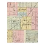 Mapa de la ciudad de Galesburg, y Monmouth y Aledo Postal
