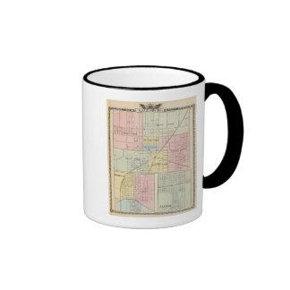 Mapa de la ciudad de Galesburg, y Monmouth y Aledo Taza De Dos Colores