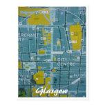 mapa de la ciudad de Glasgow Postal
