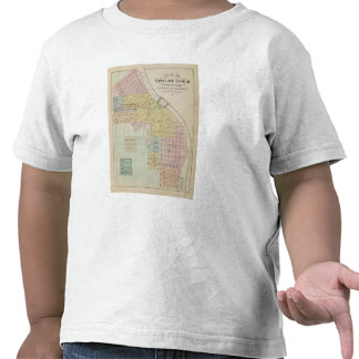 Mapa de la ciudad de la nube del St., Minnesota Camisetas