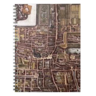 Mapa de la ciudad de la reproducción de La Haya Libros De Apuntes