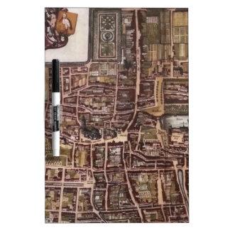 Mapa de la ciudad de la reproducción de La Haya Pizarras