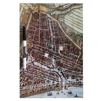 Mapa de la ciudad de la reproducción de Rotterdam Pizarras Blancas