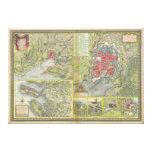 Mapa de la ciudad de La Rochelle y de Aunis Franci Lona Envuelta Para Galerias
