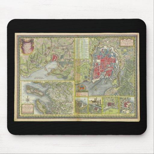 Mapa de la ciudad de La Rochelle y de Aunis Franci Alfombrillas De Ratón