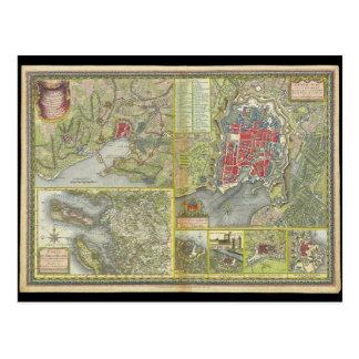 Mapa de la ciudad de La Rochelle y de Aunis Tarjetas Postales
