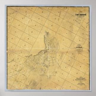 Mapa de la ciudad de Los Ángeles Póster