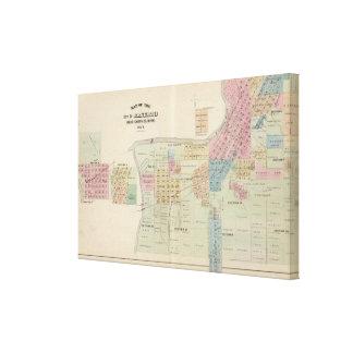 Mapa de la ciudad de Mankato, Minnesota Impresión De Lienzo