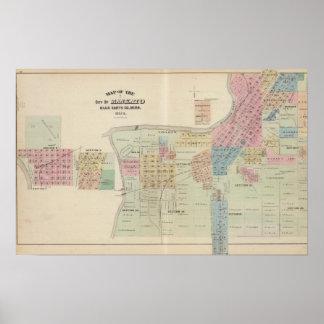 Mapa de la ciudad de Mankato, Minnesota Posters