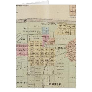 Mapa de la ciudad de Mankato, Minnesota Tarjetas