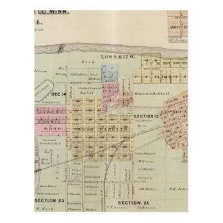 Mapa de la ciudad de Mankato, Minnesota Postal