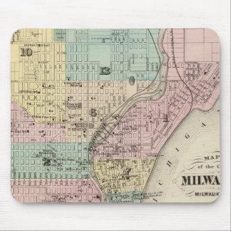 Mapa de la ciudad de Milwaukee, Milwaukee Co Alfombrillas De Ratones