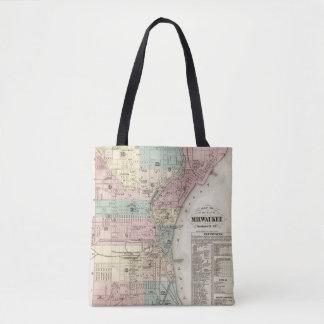Mapa de la ciudad de Milwaukee, Milwaukee Co Bolsa De Tela