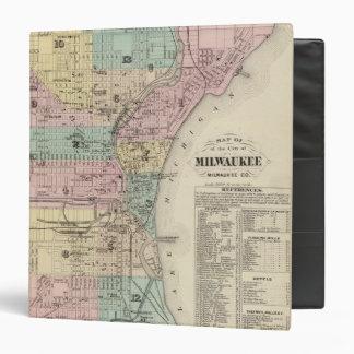 """Mapa de la ciudad de Milwaukee, Milwaukee Co Carpeta 1 1/2"""""""