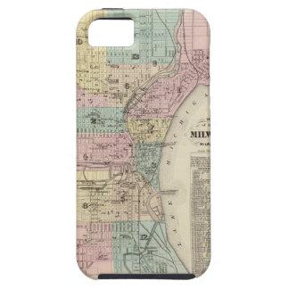Mapa de la ciudad de Milwaukee, Milwaukee Co iPhone 5 Fundas