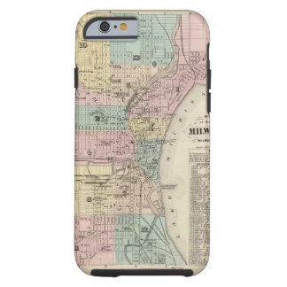 Mapa de la ciudad de Milwaukee, Milwaukee Co Funda Para iPhone 6 Tough