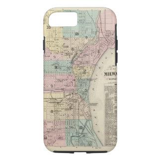 Mapa de la ciudad de Milwaukee, Milwaukee Co Funda iPhone 7