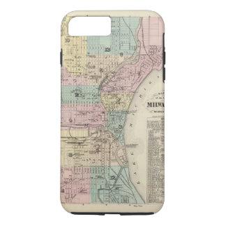 Mapa de la ciudad de Milwaukee, Milwaukee Co Funda iPhone 7 Plus