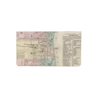 Mapa de la ciudad de Milwaukee, Milwaukee Co Funda Para Chequera