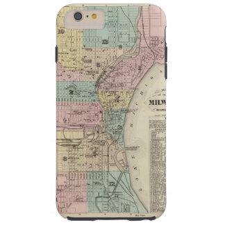 Mapa de la ciudad de Milwaukee, Milwaukee Co Funda Resistente iPhone 6 Plus