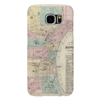 Mapa de la ciudad de Milwaukee, Milwaukee Co Funda Samsung Galaxy S6