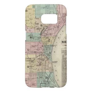 Mapa de la ciudad de Milwaukee, Milwaukee Co Funda Samsung Galaxy S7