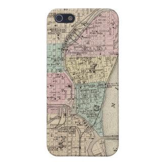 Mapa de la ciudad de Milwaukee, Milwaukee Co iPhone 5 Carcasa