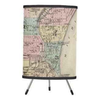 Mapa de la ciudad de Milwaukee, Milwaukee Co Lámpara Trípode