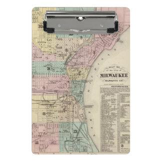 Mapa de la ciudad de Milwaukee, Milwaukee Co Minicarpeta De Pinza