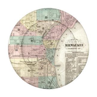 Mapa de la ciudad de Milwaukee, Milwaukee Co Paquete Pequeño De Tapa Botones