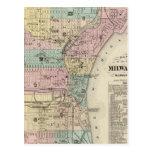 Mapa de la ciudad de Milwaukee, Milwaukee Co Postal