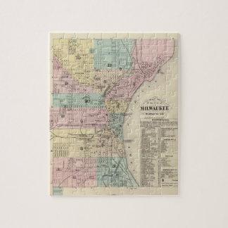 Mapa de la ciudad de Milwaukee, Milwaukee Co Puzzle