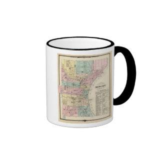 Mapa de la ciudad de Milwaukee, Milwaukee Co Taza De Café
