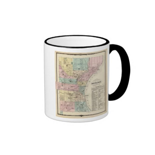 Mapa de la ciudad de Milwaukee, Milwaukee Co Taza De Café