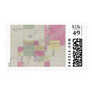 Mapa de la ciudad de Osage, Kansas Sellos Postales