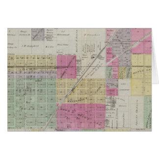 Mapa de la ciudad de Osage, Kansas Tarjeta De Felicitación