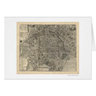 Mapa de la ciudad de París de Nicolás de Fer 1700 Tarjeta De Felicitación