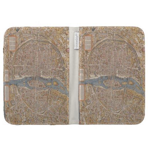 Mapa de la ciudad de París del vintage, 1550