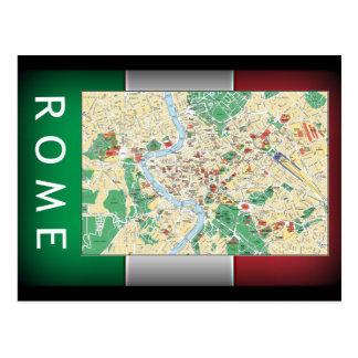 Mapa de la ciudad de Roma Tarjetas Postales