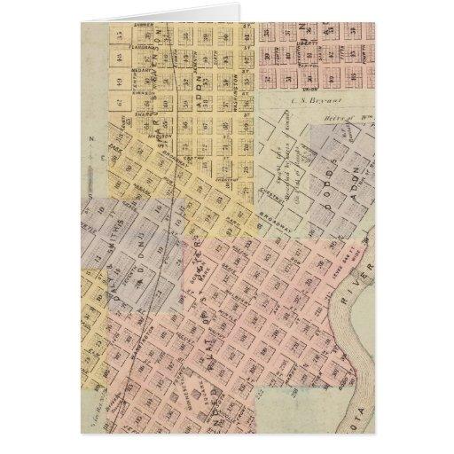 Mapa de la ciudad de San Pedro, Minnesota Felicitación