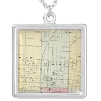 Mapa de la ciudad de Springfield Colgante Cuadrado