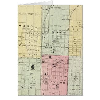 Mapa de la ciudad de Springfield Tarjeta De Felicitación