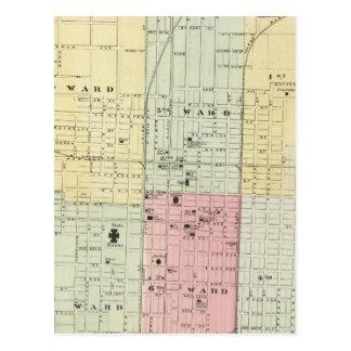 Mapa de la ciudad de Springfield Tarjetas Postales