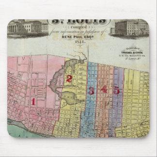 Mapa de la ciudad de St. Louis Alfombrilla De Ratón