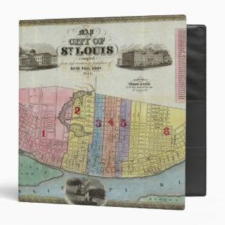 """Mapa de la ciudad de St. Louis Carpeta 1 1/2"""""""