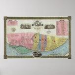 Mapa de la ciudad de St. Louis Impresiones