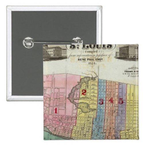 Mapa de la ciudad de St. Louis Pins